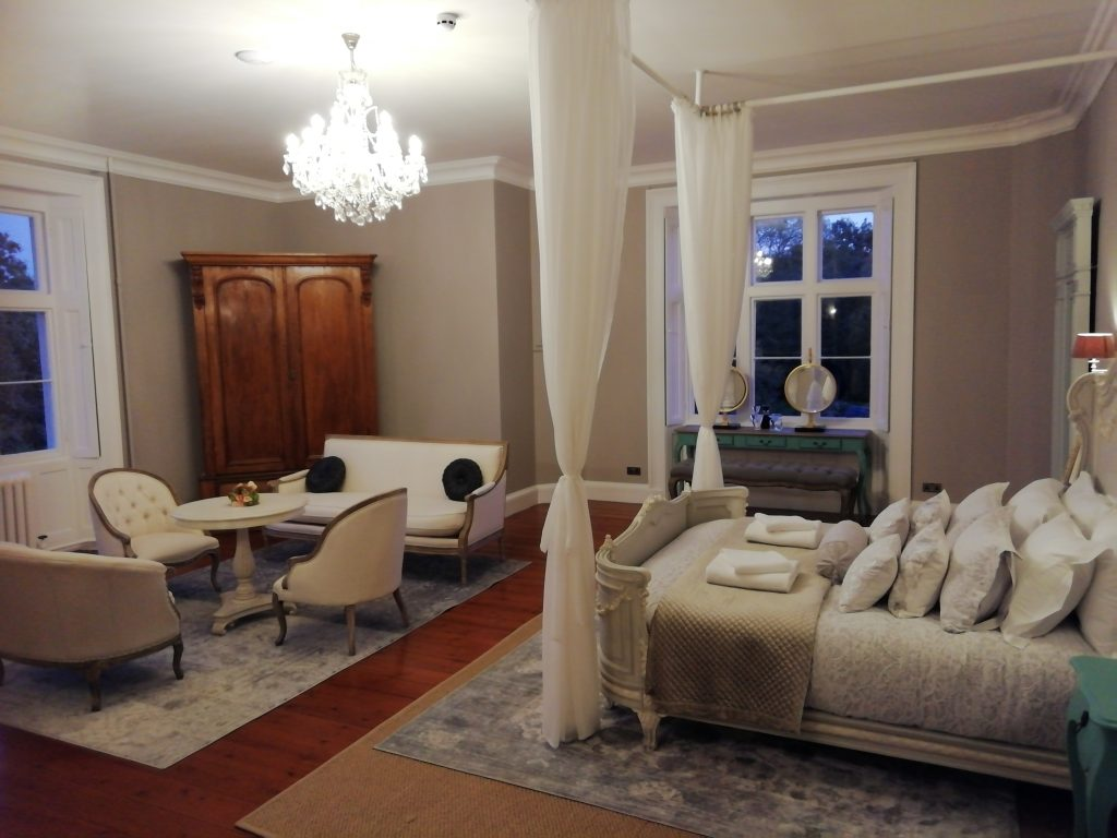 Elegant Bridal Suite of Thicket Priory where India Rose Strings are Recommended Suppliers.